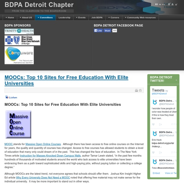 MOOCs: Top 10 Sites for Free Education With Elite Universities