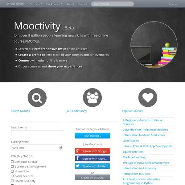 MOOC Search Engine and Social Network