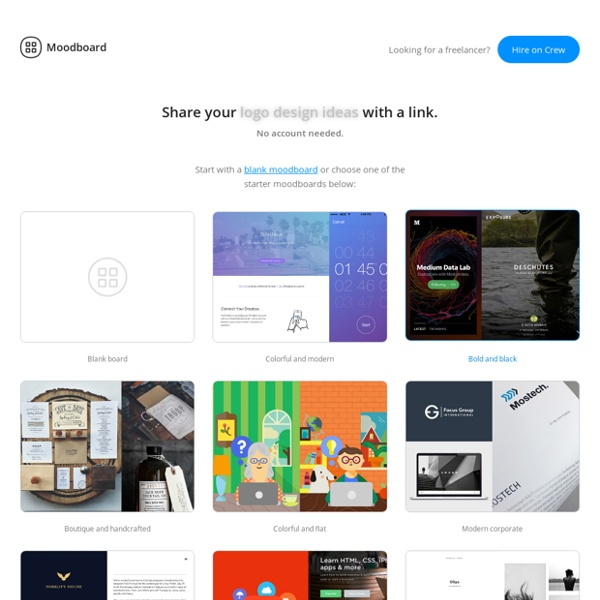 Quickly build beautiful moodboards and easily share the results