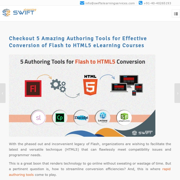 5 Best Authoring Tools for Flash to HTML5 Conversion