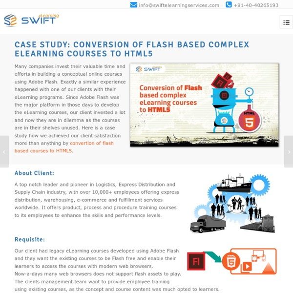 Case Study on Conversion of Gamified Flash Courses to HTML5
