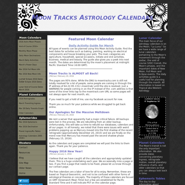 Moontracks Astrology Calendars