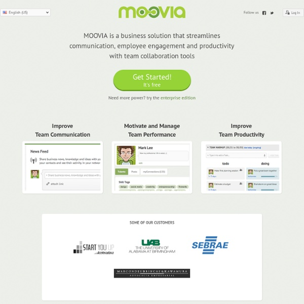 MOOVIA - Team Collaboration Network