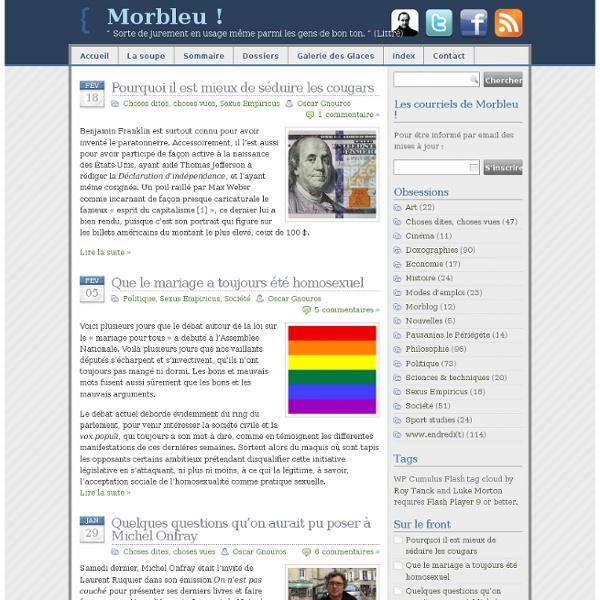 Morbleu ! Philosophie et Culture en Majuscules