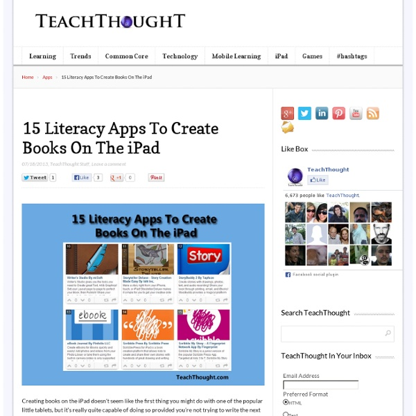 15 More Apps To Create Books On The iPad