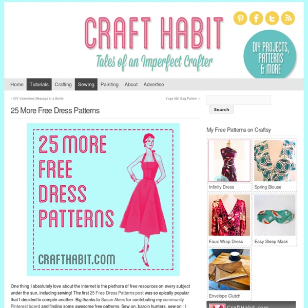 25 More Free Dress Patterns