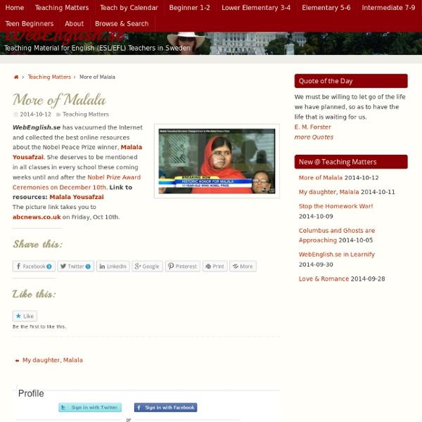 More of Malala WebEnglish.se