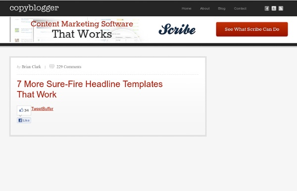 7 More Sure-Fire Headline Templates That Work