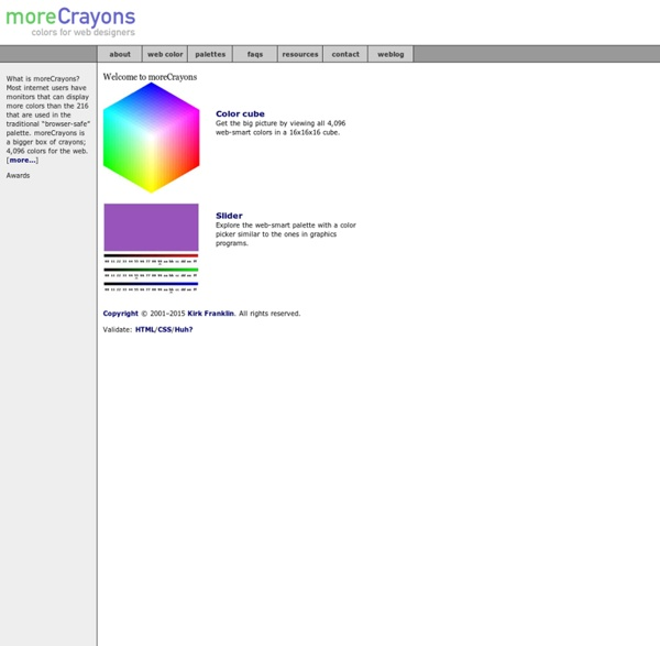 MoreCrayons - Welcome to moreCrayons