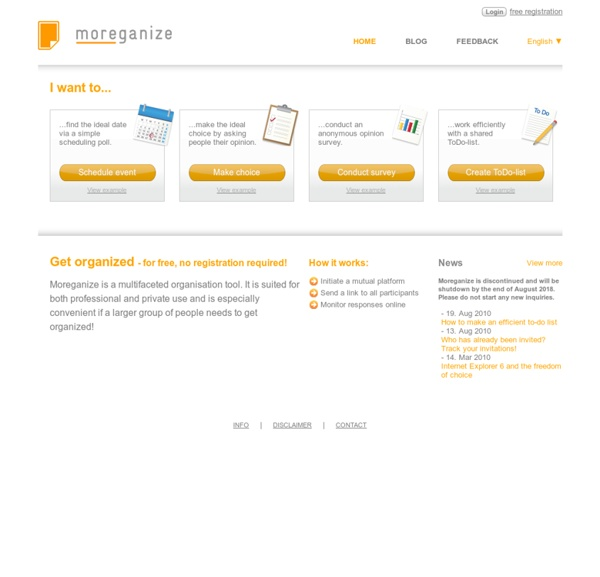 Moreganize - stay organised