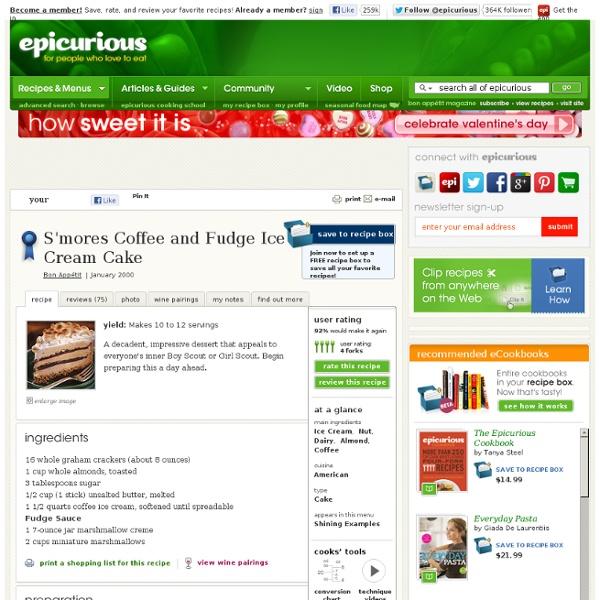 Smores Coffee and Fudge Ice Cream Cake Recipe at Epicurious.com