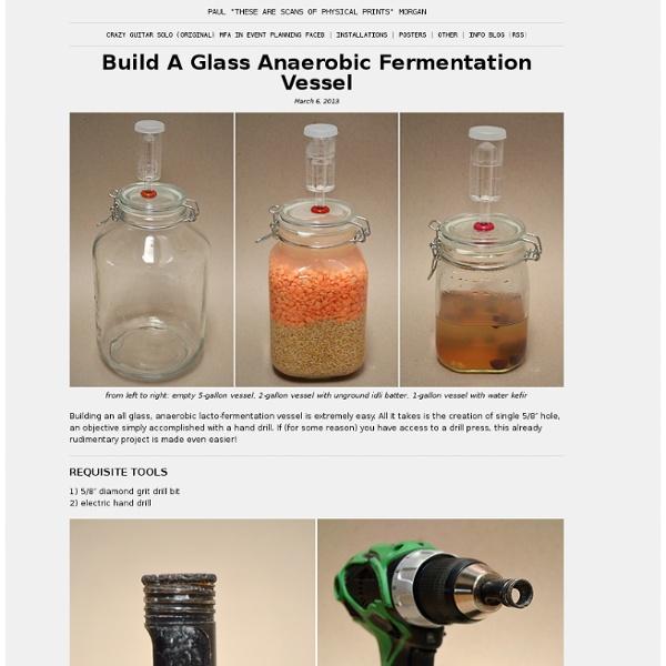 DIY Anaerobic Glass Fermentation Vessel