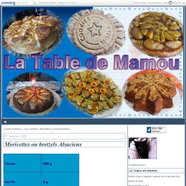 Moricettes ou bretzels Alsaciens - La table de Mamou