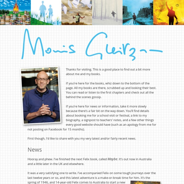 Welcome to the Morris Gleitzman Website