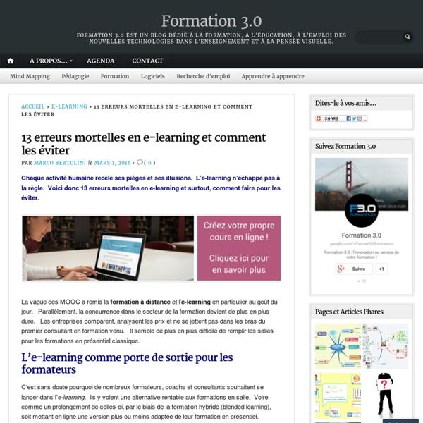 13 erreurs mortelles en e-learning et comment les éviter – Formation 3.0