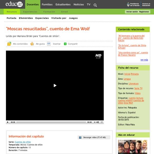 """""""Moscas resucitadas"""", cuento de Ema Wolf"""