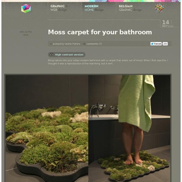 Moss carpet for your bathroom