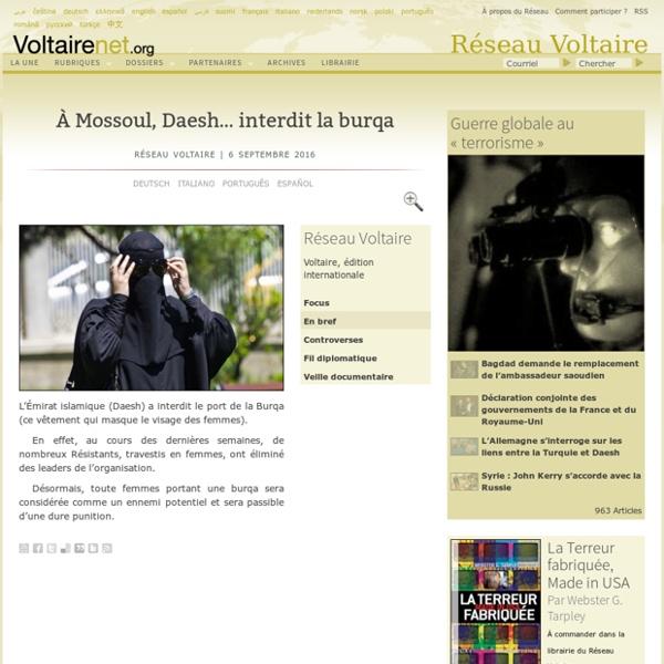 À Mossoul, Daesh… interdit la burqa