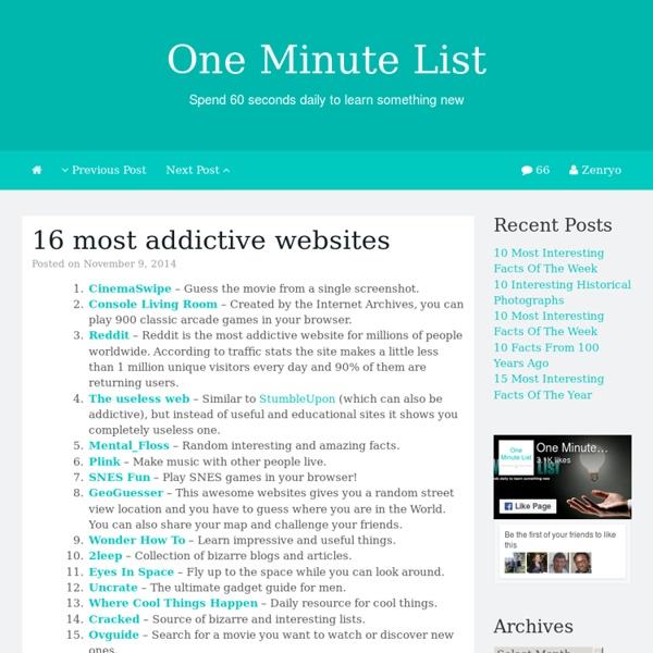 16 most addictive websites