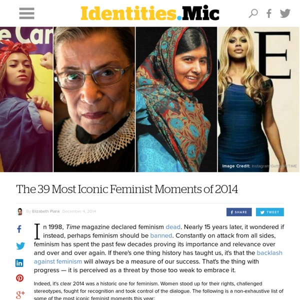 The 39 Most Iconic Feminist Moments of 2014