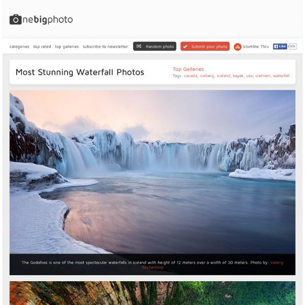 Most Stunning Waterfall Photos