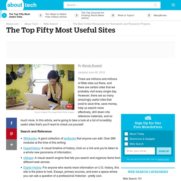The Best Fifty Web Sites You Don't Know About