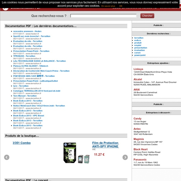 Moteur de recherche PDF et Ebook - Documentation PDF