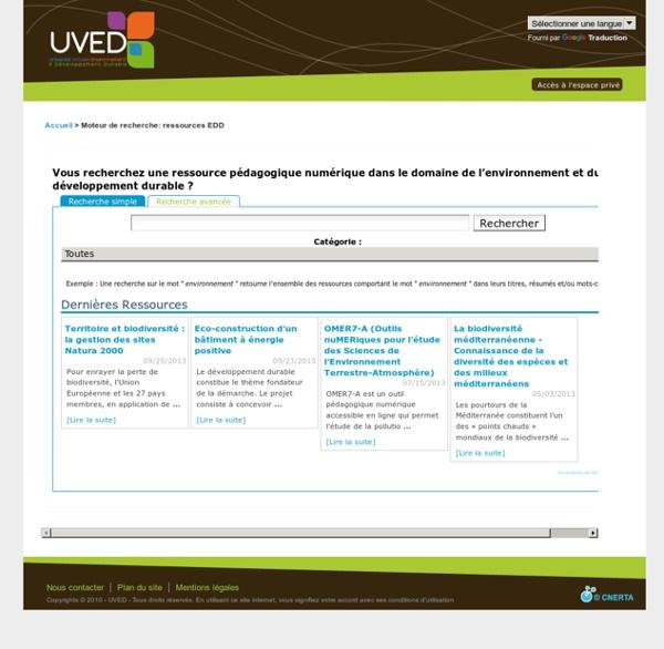 Moteur de recherche: ressources EDD