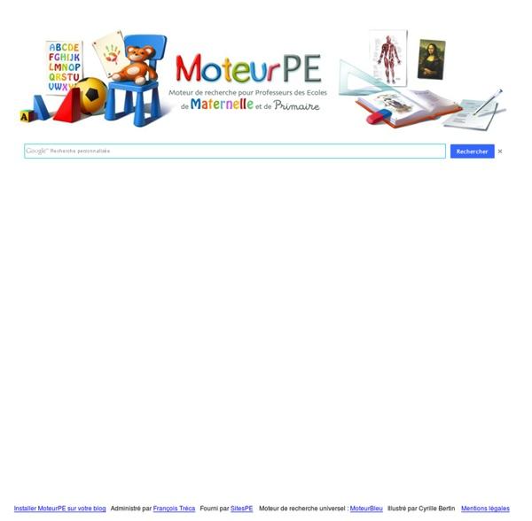 MoteurPE : le moteur de recherche des professeurs des écoles