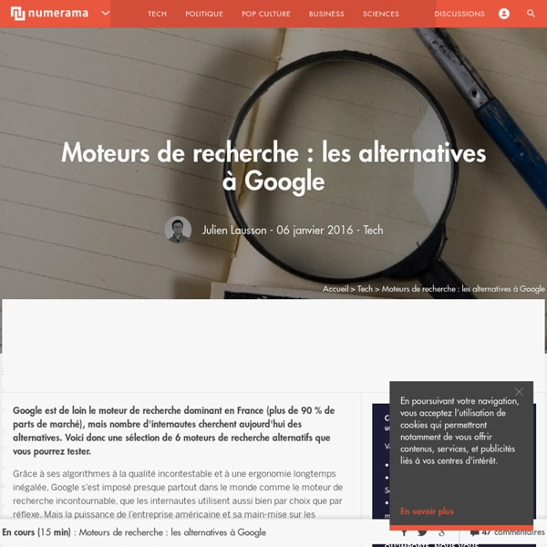 Moteurs de recherche : 5 alternatives à Google
