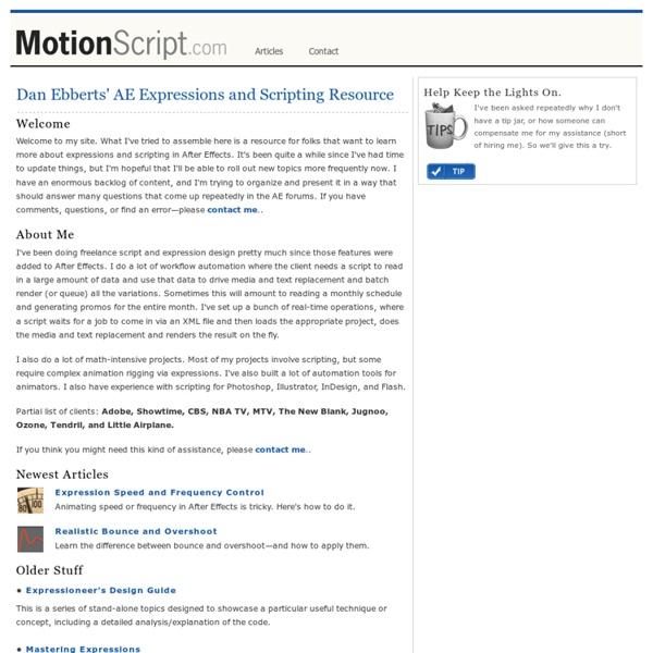 MotionScript.com - main page