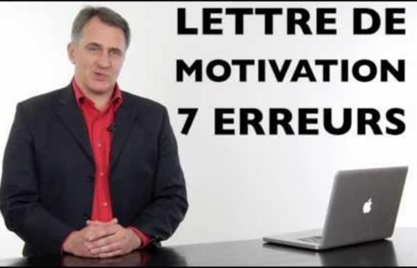 Lettre de motivation exemples type des 7 erreurs à éviter pour écrire sa lettre