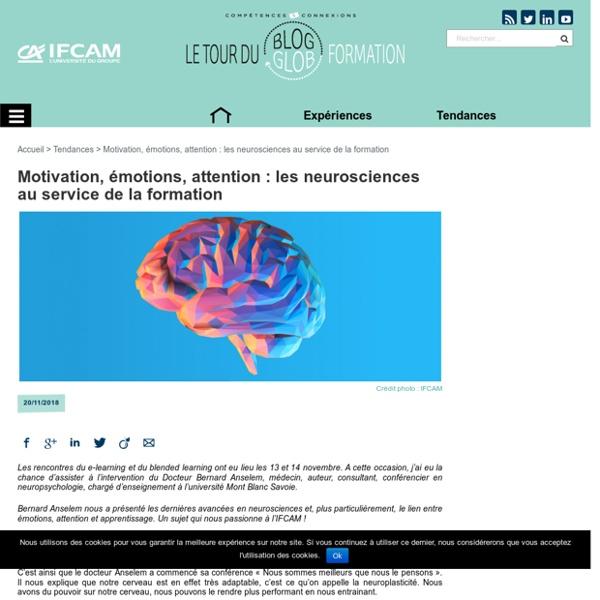 Motivation, émotions, attention : les neurosciences au service de la formation