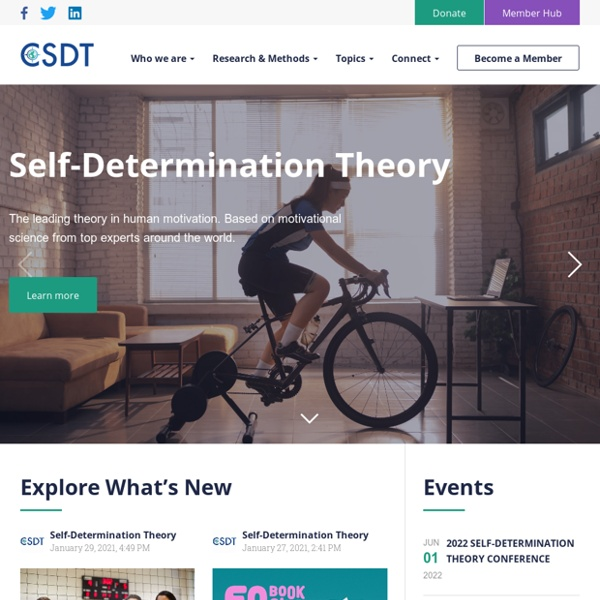 Selfdeterminationtheory.org - An Approach to human motivation & personality