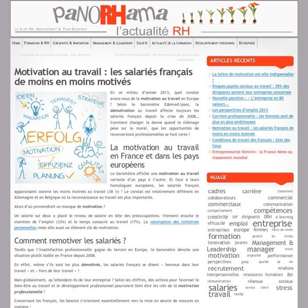 Motivation au travail : les salariés français de moins en moins motivés