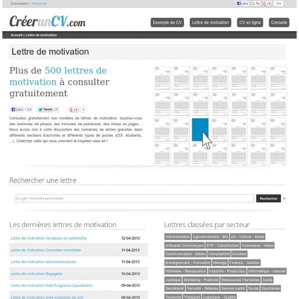 Lettres de motivation gratuites : 500 modèles à télécharger