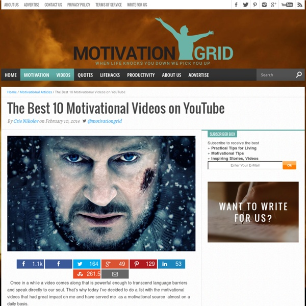 The Best 10 Motivational Videos For 2013