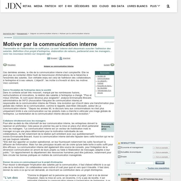 Motiver par la communication interne