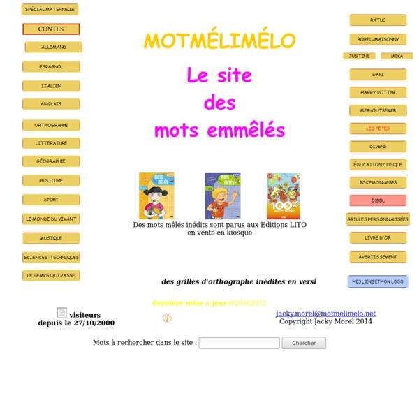 MOTMELIMELO, le site des mots mêlés