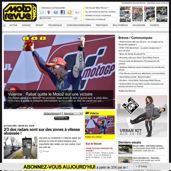Moto Revue, actualité et essais moto