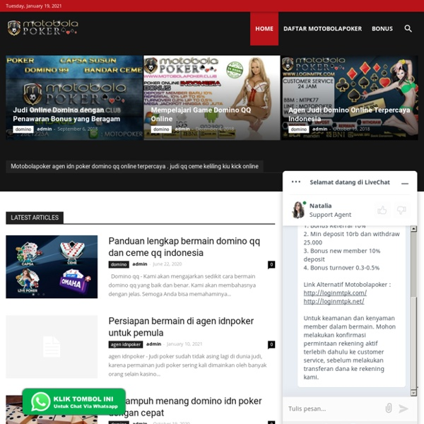 Motobolapoker Situs Judi Domino Qq Indonesia Uang Asli Pearltrees