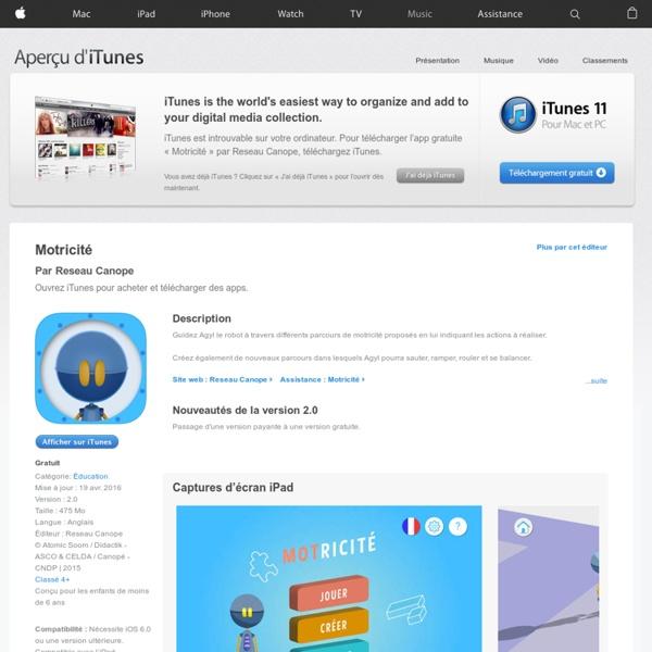 Motricité pour iPhone, iPod touch et iPad dans l'App Store sur iTunes