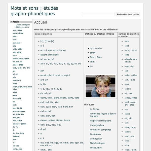 Mots et sons : études grapho-phonétiques