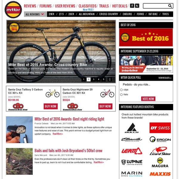 Mountain Bike Review – The Best Mountain Bike Brands and Parts Online - Mtbr.com