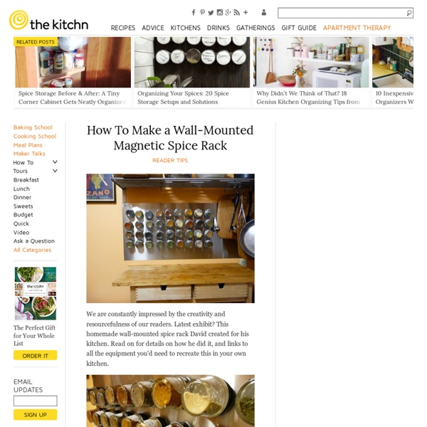 Wall-Mounted Magnetic Spice Rack
