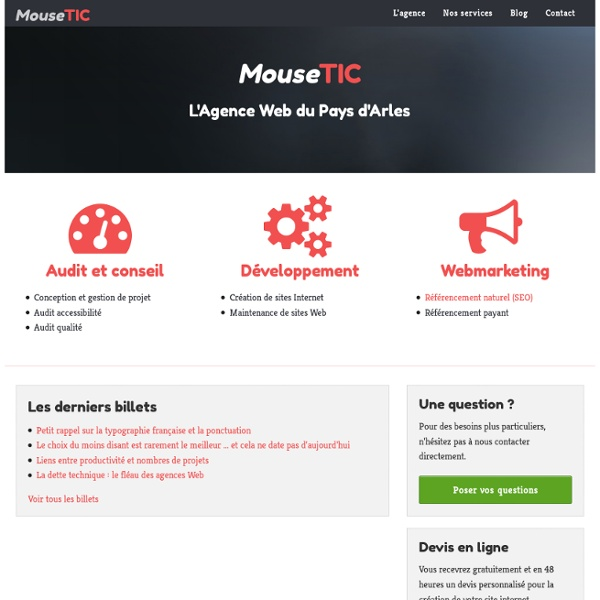 Développeur Web Zend Framework, Joomla, Wordpress, Drupal, Symfony, accessibilité