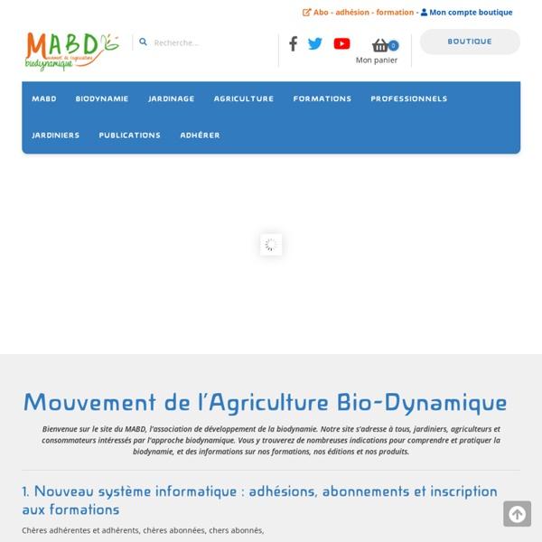 MABD - Le Mouvement de l'Agriculture Bio-Dynamique