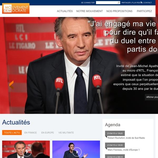 Site officiel du Mouvement Démocrate - MoDem