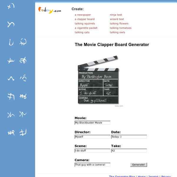 The Movie Clapper Board Generator