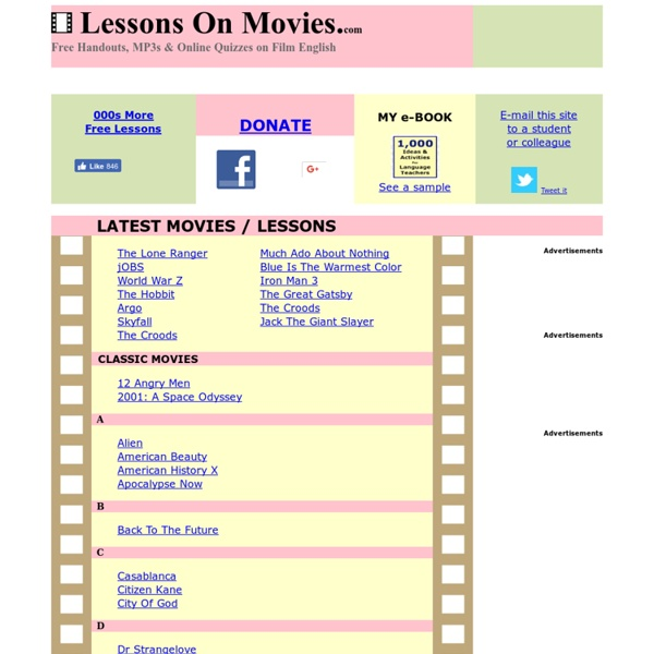 Lessons On Movies.com - Film English